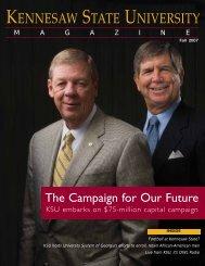 Download PDF KSU Magazine Fall 07 - Kennesaw State University