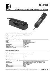 N-40 USB - HOLMCO - Holmberg Elektroakustik