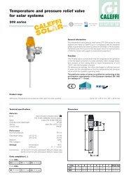 Temperature and pressure relief valve for solar systems - Caleffi