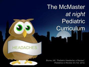 Approach to Headaches