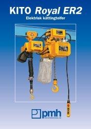 KITO Royal ER2 elektrisk kättingtelfer - PMH