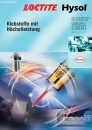 Loctite Epoxy Katalog - Webshop - GaFa Tec Handels GmbH
