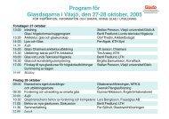 Program för Glasdagarna i Växjö, den 27-28 oktober, 2005 - Glafo