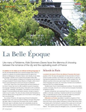 La Belle Epoque - Language Magazine