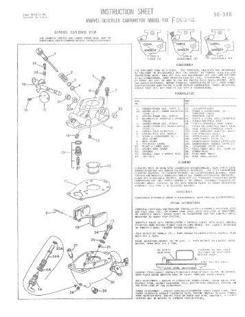 Marvel Schebler Aircraft Carburetor Overhaul Manual The