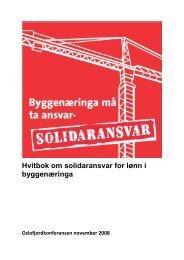 Hvitbok om solidaransvar for lønn i byggenæringa-del 2 - Oslo ...