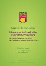 20 ans pour la Coopérative des petits producteurs - Causses ...