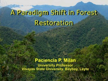 A Paradigm Shift in Forest Restoration - Rainforestation