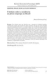 O debate sobre a tendência ao pleno emprego no Brasil - Revista ...