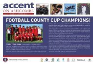 The latest edition of 'Accent' is here - Ashcombe School
