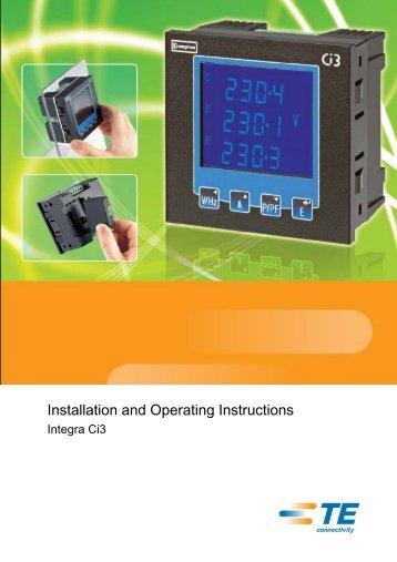 Integra Ci3 Installation - Crompton Instruments
