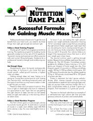 A Successful Formula for Gaining Muscle Mass