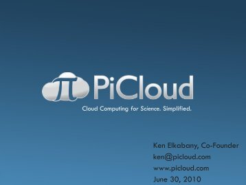 PiCloud - Cloud Computing for Science. Simplified.