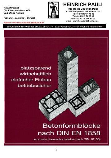 HEINRICH PAULI - Firma Heinrich Pauli Schornstein-Kamintechnik