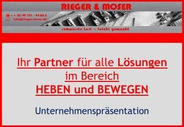 Sattelaufleger/ Tieflader - Rieger Moser