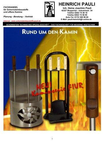 Rund um den Kamin 2009-2010 - Firma Heinrich Pauli Schornstein ...