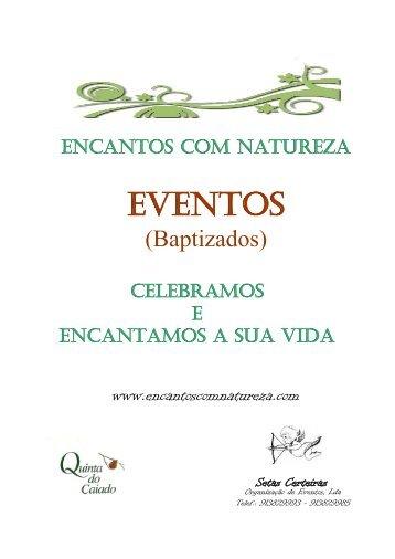 EVENTOS - encantos com natureza