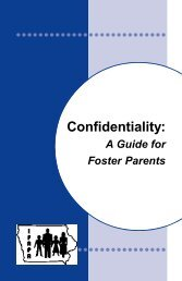 Confidentiality: A Guide for Foster Parents - ifapa