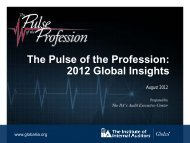 The Pulse of the Profession: 2012 Global Insights - Institut für Interne ...