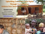 Upholding Customary Land Rights Through Formalization: Evidence ...