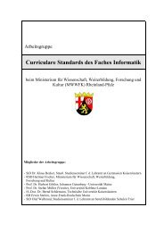 Curriculare Standards des Faches Informatik - HSG