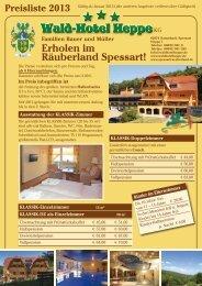 Preisliste als PDF - Waldhotel Heppe