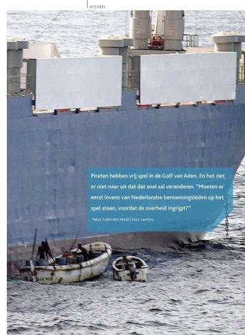 Piraten hebben vrij spel in de Golf van Aden. En het ziet er niet ...