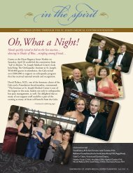 Oh, What a Night! - St. Joseph Medical Center