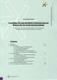 Vorschläge für eine kirchliche Positionierung zur Reform der EU ...