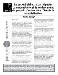 La société civile, la participation communautaire et le ... - AWID