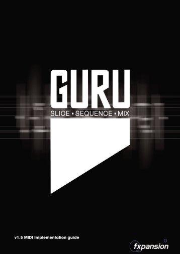 GURU v1.5 MIDI Implementation guide - FXpansion1.com