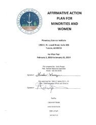 affirmative action plan for minorities and women - Planetary Science ...
