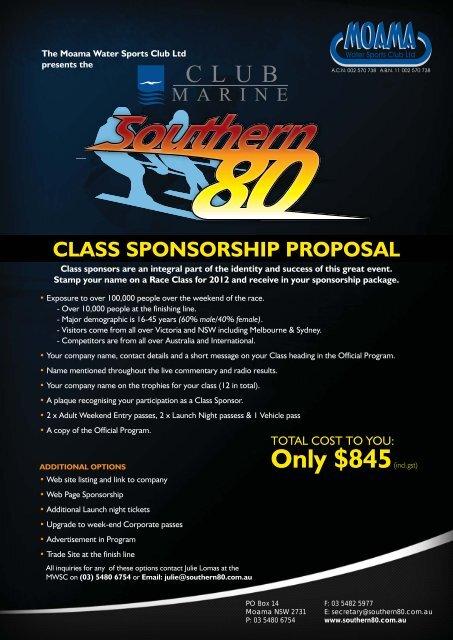 Class Sponsorship pdf - Southern 80