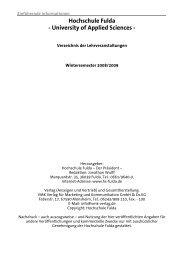Hochschule Fulda - University of Applied Sciences -