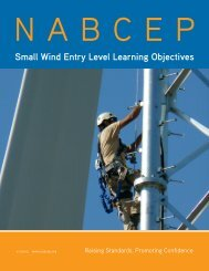 Small Wind Entry Level Learning Objectives - nabcep