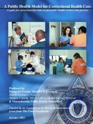 A Public Health Manual for Correctional Health Care - The National ...