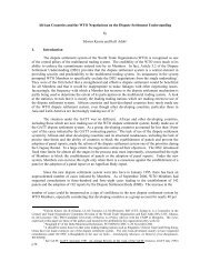 African Countries and the WTO Negotiations on the Dispute ... - ictsd