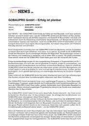 PDF :: fair-NEWS.de :: GOBAUPRO GmbH - Erfolg ist planbar