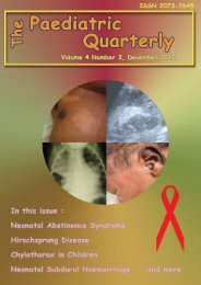 Volume 4 no. 3, December 2012 - The Paediatric Quarterly
