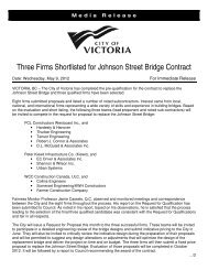 Three Firms Shortlisted for Johnson Street Bridge Contract - Victoria