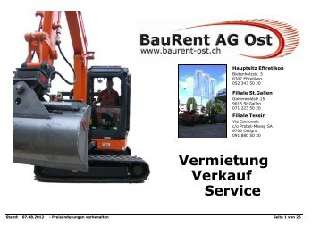Vermietung Verkauf Service - BauRent AG Ost