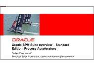 Oracle BPM Suite overview – Standard Edition, Process ... - HrOUG