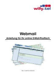 Anleitung webmail - Willy.Tel
