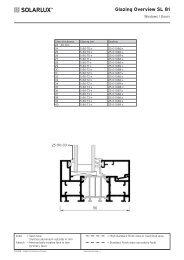 Glazing Overview SL 81 - Lito Byg A/S