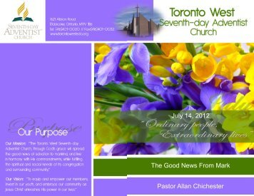 Pastors Clarke/Lazarus - Toronto West Seventh Day Adventist Church