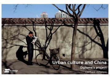 Urban culture and China Diploma's project