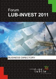 Forum LUB-INVEST 2011 - Business Directory - Lublin