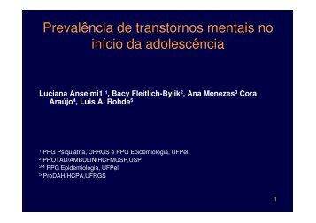 Prevalência de transtornos mentais no início da ... - Epi2008