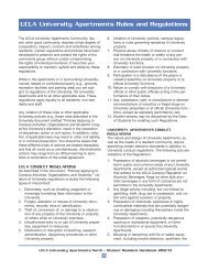 University Apartments Rules and Regulations - UCLA - Housing