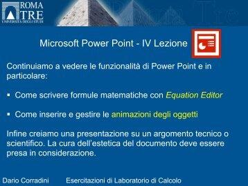 Equation Editor - Università degli Studi Roma Tre